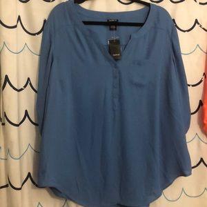 Dusty blue torrid blouse